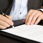 Процесс подписания договора