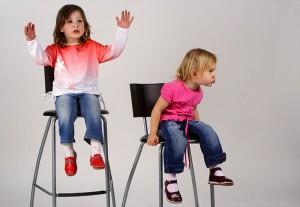 Дети в процессе съемки