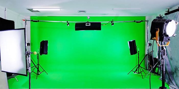 Зеленый фон для съемок