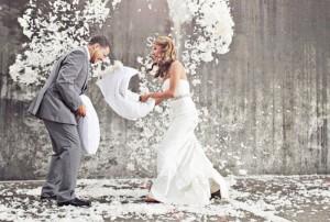 Постановочная съемка свадьбы
