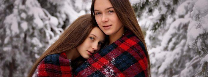 Фотосессия сестер