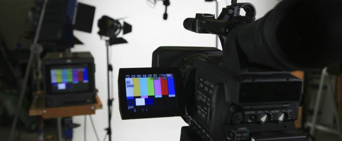 Видеосъемка на белом фоне
